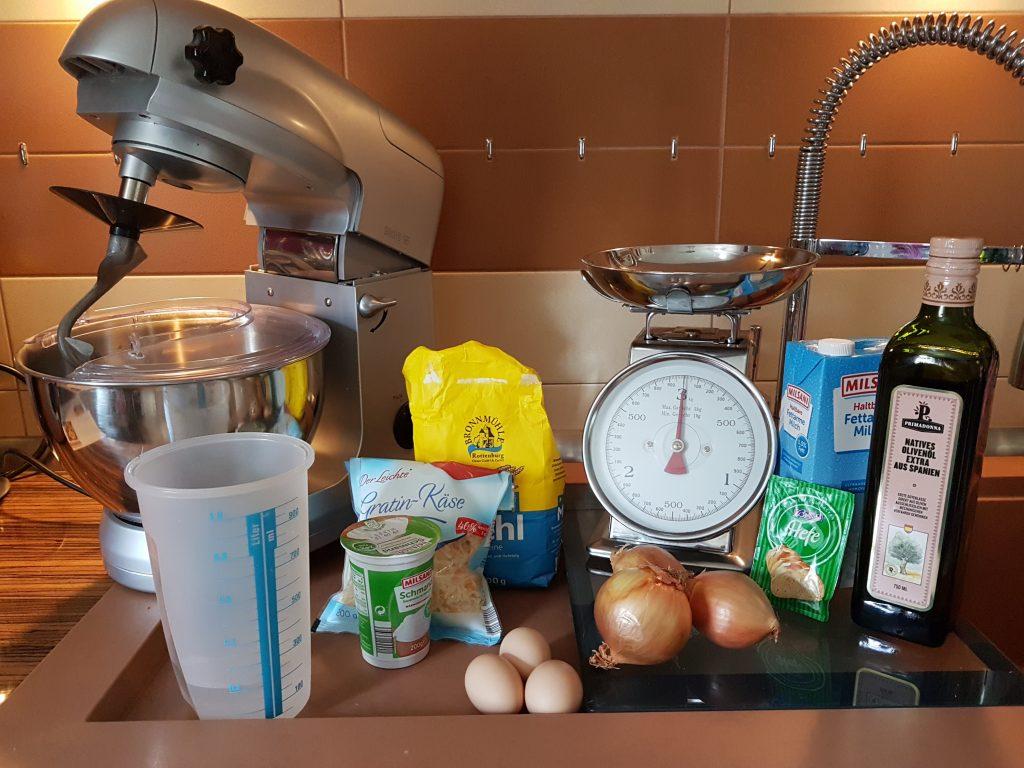 Zwiebelkuchen mit Dinkel